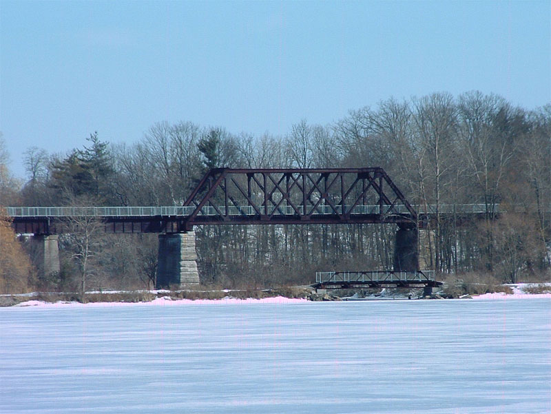The Black Bridge in Waterford, constructed by Lake Erie and Northern Railroad servicing Galt to Port Dover