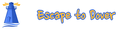 Escape to Dover logo with Port Dover Lighthouse symbol.