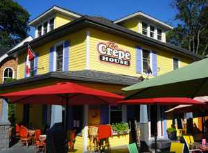 Outside view of the Crepe House Restaurant in Port Dover.